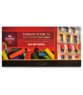 Set of Half Soft Pastels Koh-i-noor Toison d'Or 24 colours