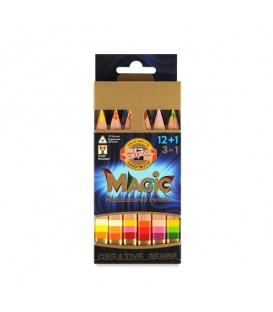 """Koh-I-Noor Set of pencils """"Magic"""" 12 + 1 pc. with sharpener and eraser in a cardboard box"""