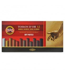 Koh-i-noor | Toison d'Or Сухи пастели кафява гама 12 цвята